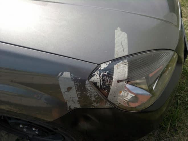 удаление скотча с автомобиля