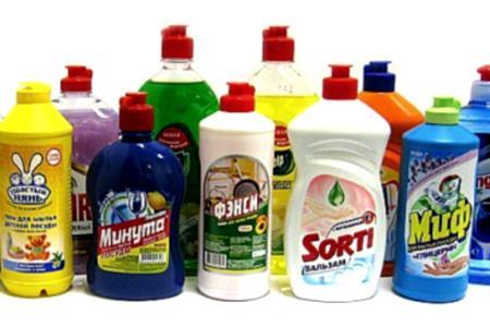 бутылки средств для мытья посуды