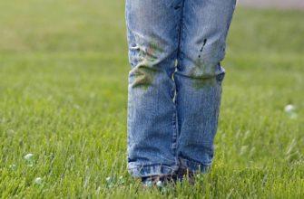 пятна травы на одежде