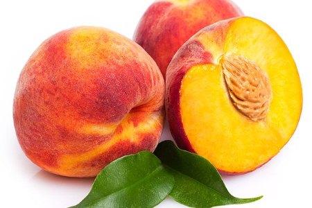 разрезанный персик