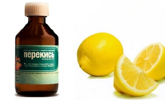 перекись и лимон