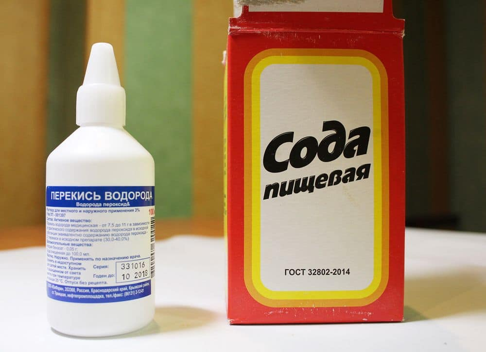 перекись и сода для отбеливания ткани