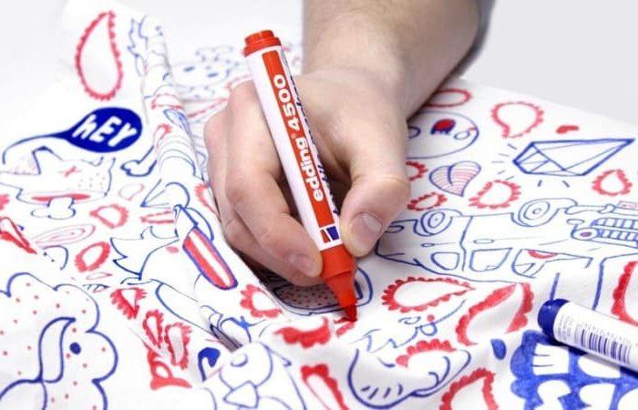как вывести маркер с одежды